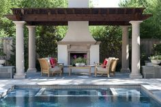 "mediterranean patio by V Fine Homes #EasyPin""......nice pool tile"