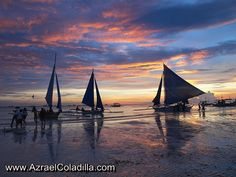 sunset view in Boracay Philippines