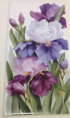 Hand painted original art on Porcelain by world renowned teacher and artist Cherryl Meggs.