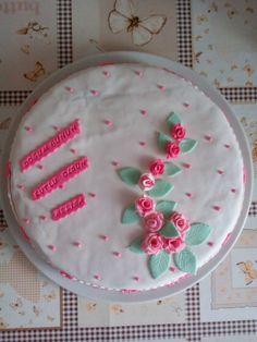 Mom's amazing birthday cake! Yum!