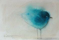 Blue Bird Painting art-i-love