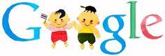 Doodleando, Los Logos de Google: Google celebra hoy el día del niño en Tailandia