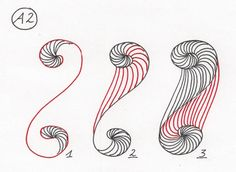 Double Spirale~Zentangle