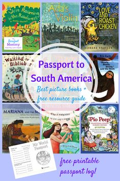 Take your child on a trip to South America through picture books! Learn about animals, culture, folktales and more from Argentina, Colombia, Brazil, Chile, and other South American countries with these children's books. Includes a free resource pack for raising kids who are global citizens!
