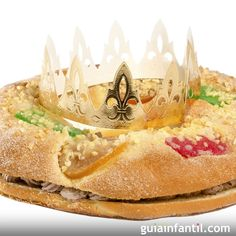 Roscón de Reyes relleno de trufa sin gluten para celiacos Sin Gluten, Gluten Free, Relleno, Camembert Cheese, Mashed Potatoes, Cake, Ethnic Recipes, Sweet, Desserts