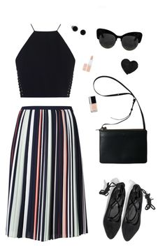 """Untitled #59"" by brandonaddict on Polyvore featuring Rebecca Minkoff, Jeffrey Campbell, Chanel, Rimmel, Summer, skirt, croptop and polyvorefashion"