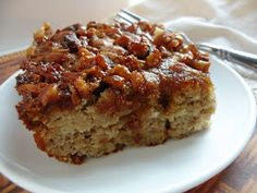 Mrs Ed's Research and Recipes: Banana Praline Snack Cake (SCD)
