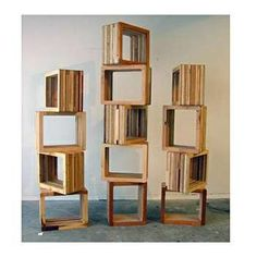 Who needs particle board furniture? These storage cubes from Scrapile are made from leftover pieces of lumber, and no two pieces are exactly the same. You can stack them up to make display shelves, or just use one as a simple side table or nightstand.