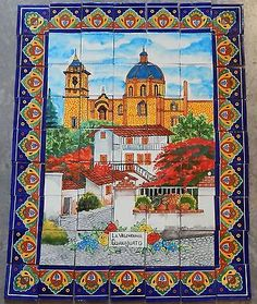 # 09 mexican #talavera mosaic #mural tile handmade #church la valenciana backspla,  View more on the LINK: http://www.zeppy.io/product/gb/2/151723679447/