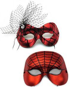 Entangled-Spiderweb Masquerade Couple