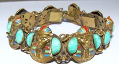 Deco Neiger Egyptian Revival Bracelet