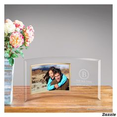 The gentle curve of the translucent glass keeps the frame upright on its own, with no need for a prop or stand. The frame features space for a x photo and beautifully incorporates a vignette of personalized engraved text. Classic Picture Frames, Wedding Picture Frames, Wedding Pictures, Personalized Christmas Gifts, Personalized Wedding Gifts, Glass Photo Frames, Translucent Glass, Cute Home Decor, Monogram Initials
