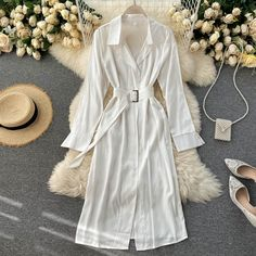 Color : White Material : Polyester, Acrylic Style: Casual Pattern Type: Solid Season: Fall, Spring The post Casual Chic Long Sleeve A-line Streetwear Midi Long Dress appeared first on TD Mercado. Long Midi Dress, Chiffon Maxi Dress, Maxi Dress With Sleeves, Boho Summer Dresses, Summer Dresses For Women, Mini Dresses, Short Dresses, Look Fashion, Fashion Styles