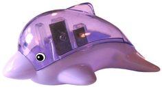 Kawaii Dolphin Dual Pencil Sharpener: Purple