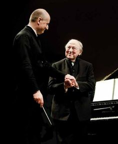 Paavo Järvi with pianist Menahem Pressler. Paris, 2014