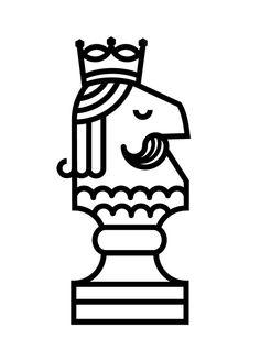 Horse by Alberto Rodríguez, via Behance Icon Design, Design Art, Logo Design, Line Illustration, Graphic Design Illustration, Chess Free, Logos, Tarot, Pictogram