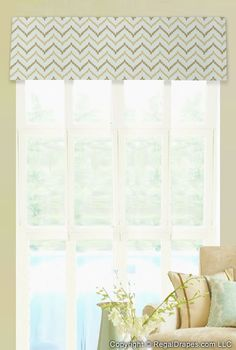 Flat Valance - Featuring clean and simple lines to frame a view.