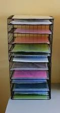 1 new white 12 x 12 6 tier scrapbooking paper storage display racks wire racks 600 and paper. Black Bedroom Furniture Sets. Home Design Ideas