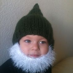 Bearded Beanie For Kids - would be cute for Christmas cards