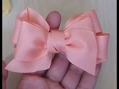 School bows made of satin ribbon by own hands