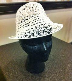 Čipkovaný klobúčik / 3d printed #hat #3dprint #fashion