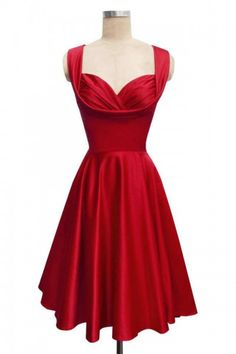 Robe de bal rouge - pin up style shopmarinavintage.com