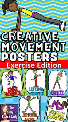Exercise CAN be fun! This freeze dance/creative movment combo is a fun brain break for any classroom. Turn on any music (a list of suggested tunes is included) and project the fun or print them out and have students hold them up. SO much fun! Endless creativity!