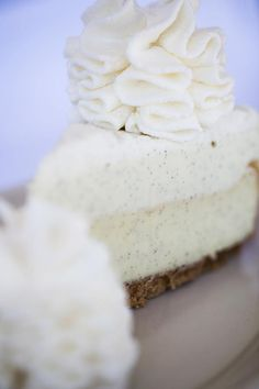 We use single origin #vanilla from the Madagascar region to give this #cheesecake its delicate vanilla notes.  This deliciousness features three distinct layers and textures: a dense layer of cheesecake topped with our vanilla mousse, and finished with a delicate layer of vanilla bean whipped cream.