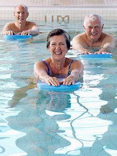 Exercise Ideas for Seniors - Senior Health Center - Everyday Health Exercise can keep seniors strong and healthy. Learn how low-impact exercises, strength training, and aerobics all benefit senior health. Pool Workout, Aerobics Workout, Bone Diseases, Water Aerobics, Senior Fitness, Low Impact Workout, Healthy Aging, Health Center, Physical Activities