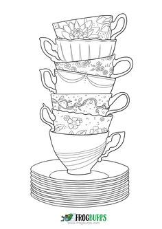 Zendoodle cup stack #coloring