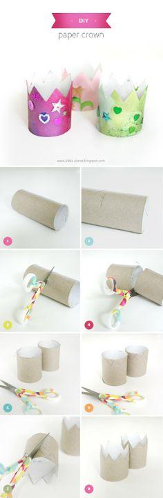 Kikkis planet: DIY - Papirkrone/Paper crown