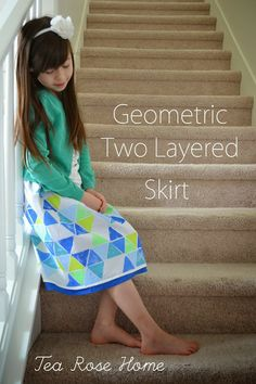 #Handmade Two Layer Geometric Skirt by @Sachiko Aldous | Fabric and Supplies available @ Joann.com or your local Jo-Ann Fabric and Craft Store | #craftmonthlove