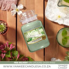 A woodland escape into an enchanted garden — with sun-warmed cypress, jasmine, lemon, and cedar. Fragrance Notes: Top: Lemon, Cypress Mid: Geranium, Jasmine, Lily Base: Cedarwood, Amber, Woody Top note is the initial impression of the fragrance, middle note is the main body of the scent and base is its final impression. Shop online: www.yankeecandlesa.co.za Lemon Cypress, Enchanted Garden, Geraniums, Woody, Scented Candles, Jasmine, Woodland, Initials, Amber