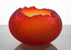 Gorgeous Nick Chase        Blown and sandblasted glass bowl. Texture inspired by decayed structures.