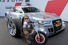 A young Audi fan in Bavaria, Germany. How cute is he?