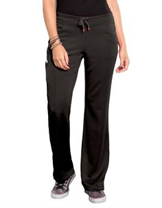 Look great in our new Smitten Pants made up of Bliss Ponte Knit fabric and feel comfort all day. Featuring our new luxurious Bliss Ponte Knit fabric, this modern straight leg pant offers a full elastic waistband and grosgrain drawstring for security. Scrubs Uniform, Medical Scrubs, Scrub Pants, Straight Leg Pants, Large Black, Grosgrain, Looks Great, Welt Pocket, Slim
