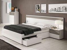 Simple Bedroom Design, Luxury Bedroom Design, Modern Master Bedroom, Bedroom Bed Design, Modern Bedroom Furniture, Bed Furniture, Bedroom Sets, Home Decor Bedroom, Bed Designs With Storage