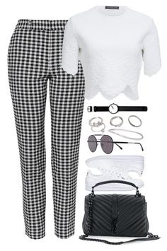 """Untitled #1017"" by elly98 ❤ liked on Polyvore featuring Topshop, Ann Demeulemeester, Alexander McQueen, Vera Wang, Forever 21, adidas, Yves Saint Laurent and Rosendahl"
