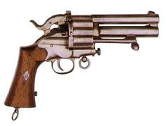 The LeMat revolver was a .42 or .36 caliber cap & ball black powder revolver invented by Dr. Jean Alexandre LeMat of New Orleans, which featured an unusual secondary 16 gauge smoothbore barrel capable of firing buckshot. It saw service with the armed forces of the Confederate States of America during the American Civil War of 1861–65. [American Southern]