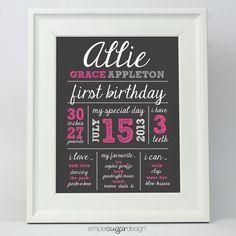 Belle idée pour souligner le premier anniversaire de bébé.