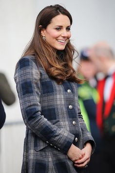 You could see Kate's blooming baby bump under her plaid coat, and she was glowing.                                     via @AOL_Lifestyle Read more: http://www.aol.com/article/2013/05/24/kate-middletons-pregnancy-style/20504296/?a_dgi=aolshare_pinterest#slide=26361|fullscreen