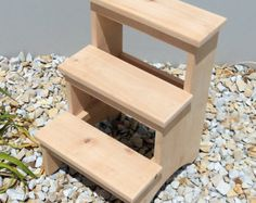 14 Inch Tall Handcrafted Pine Step Stool by EmmersonWoodworks