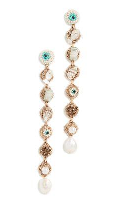 Deepa Gurnani Nikke Earrings In Ivory India Fashion, World Of Fashion, Deepa Gurnani, Luxury Branding, Seed Beads, Women Accessories, Ivory, Beaded Bracelets, Pearls