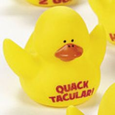 Motivational Rubber Duck - Quacktacular! - $1.00 : Ducks Only!, Exclusively Ducks - Perfect reward rubber duck for students of all ages.