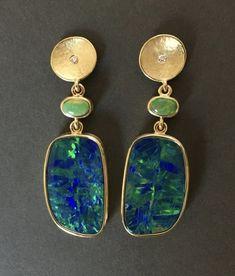 18kt gold, opals, diamond