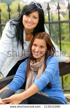 Mother And Daughter In The Park Smiling Teen Together Loving Stock Photo 113041090 : Shutterstock