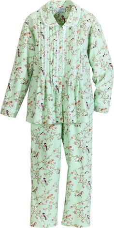 121bd5fe73 Women s Lanz Slumber Birds  n Berries PJs Flannel Pajamas
