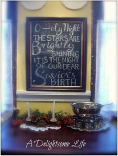 Chalkboard Christmas Fun - A Delightsome Life