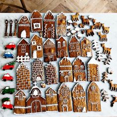 """5,858 Likes, 124 Comments - Dreamy Whites Lifestyle (@dreamywhiteslifestyle) on Instagram: """"My daughter @carr_bethany has been busy baking and decorating gingerbread houses. Bethany is so…"""""""