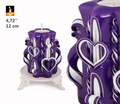 Hey, I found this really awesome Etsy listing at https://www.etsy.com/listing/221737931/purple-candle-carved-candles-decorative